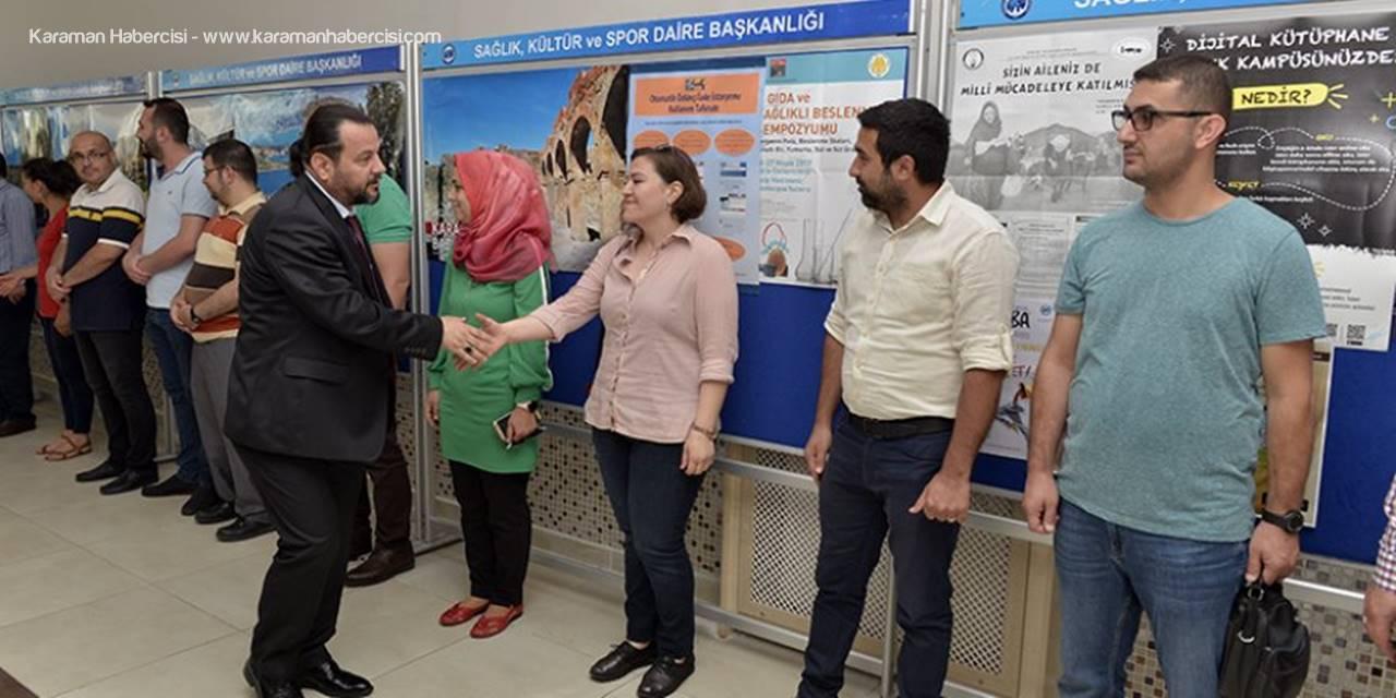 Karaman'da Üniversite Personeli Bayramlaştı