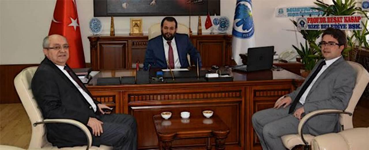 KMÜ Rektör'ü Akgül'e KTSO Başkanlarından Hayırlı Olsun Ziyareti
