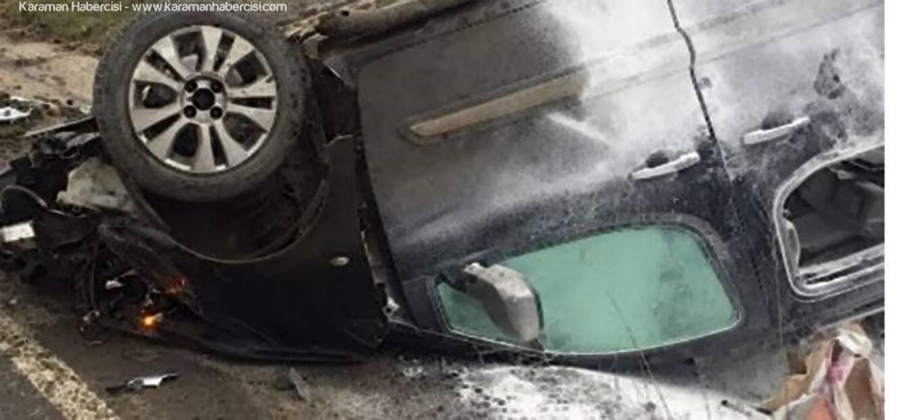 Ermenek'te Trafik Kazası: 1 Ölü