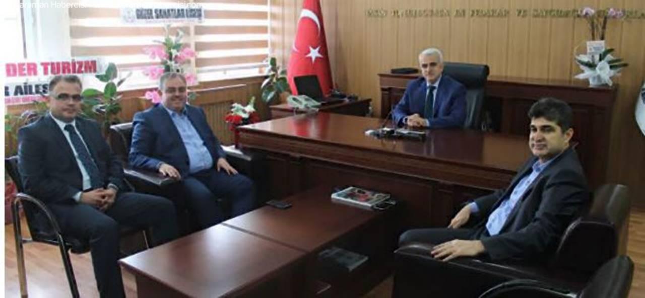 Milletvekili Recep Şeker'den Milli Eğitim Müdürü Kuntoğlu'na Hayırlı Olsun Ziyareti