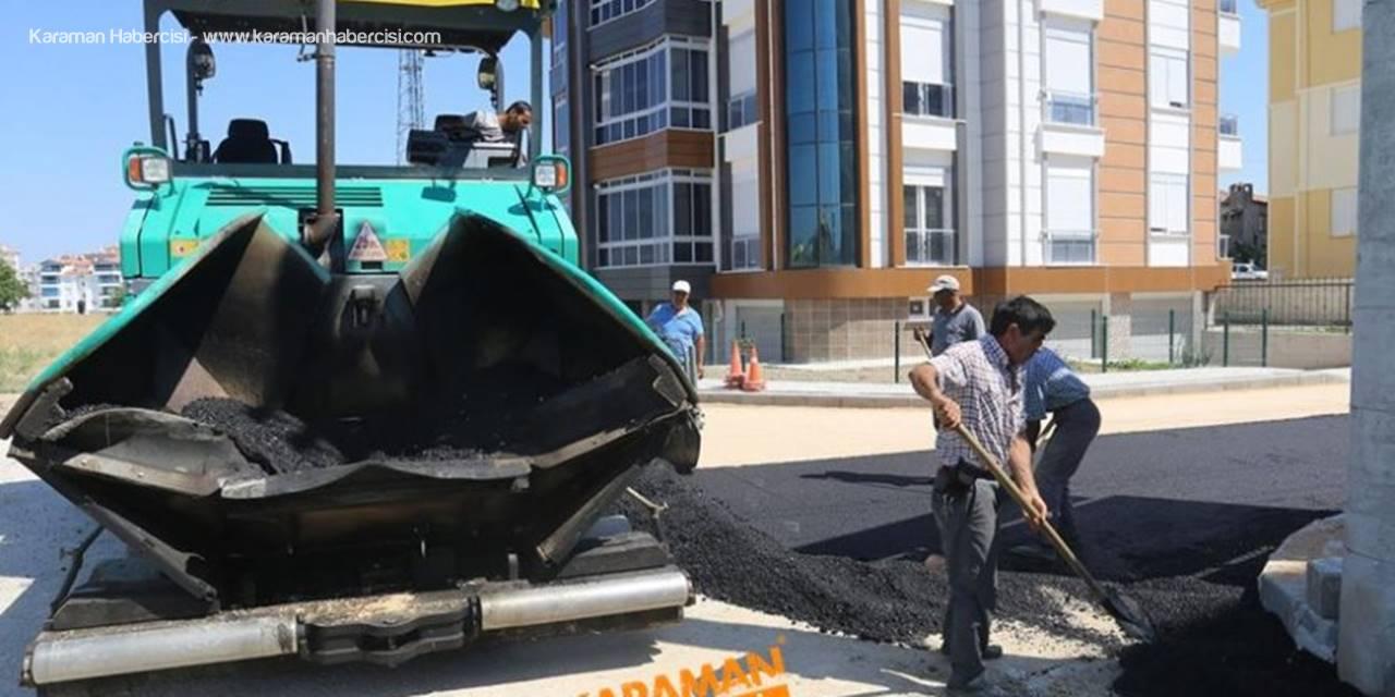 Karaman'da Asfaltlama Çalışmaları Hüyük Civarında