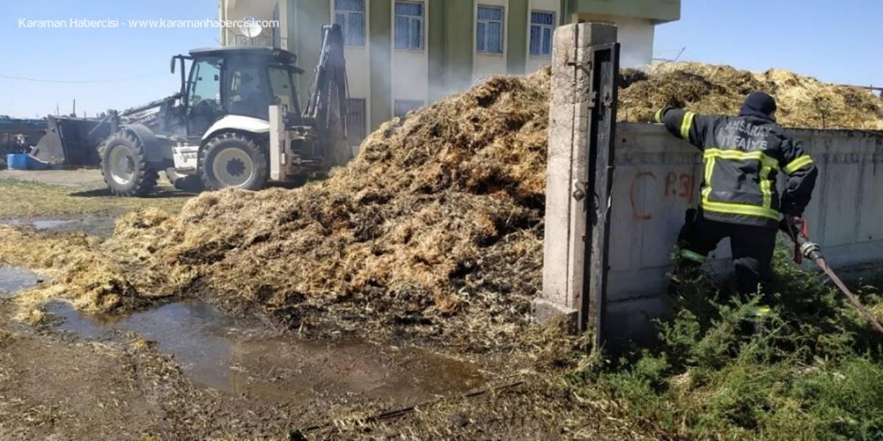 Aksaray'da Saman Yangını Büyümeden Söndürüldü