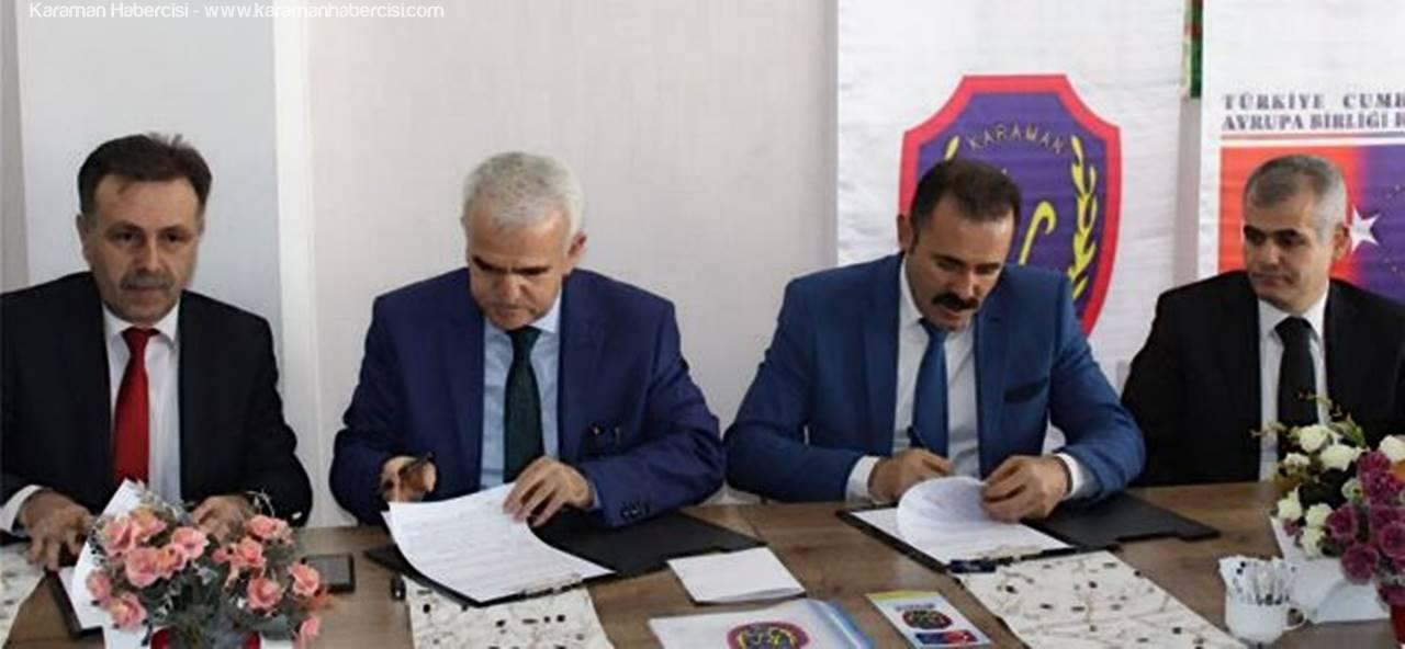 Karaman'da Gençleri Spora Yöneltmek İçin Protokol İmzalandı