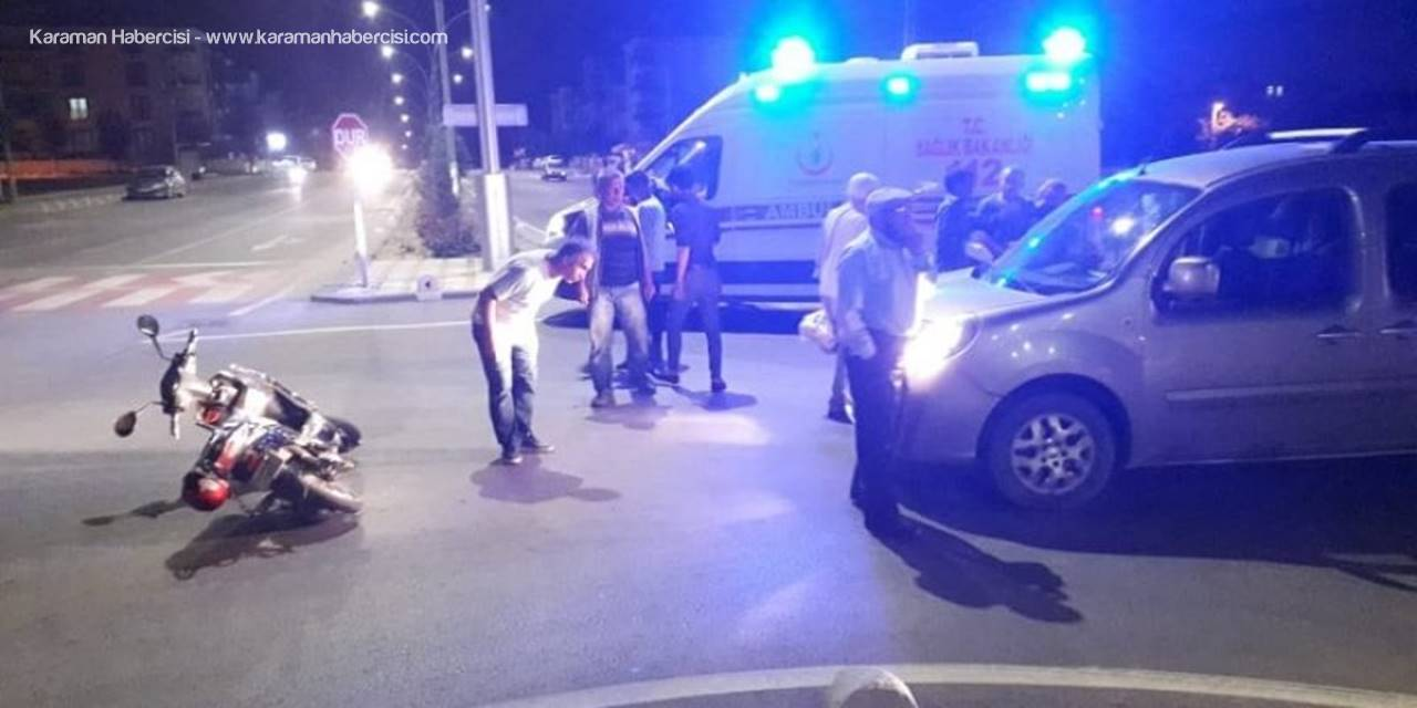 Karaman'da Alparslan Türkeş Bulvarı'nda Trafik Kazası Yaşandı