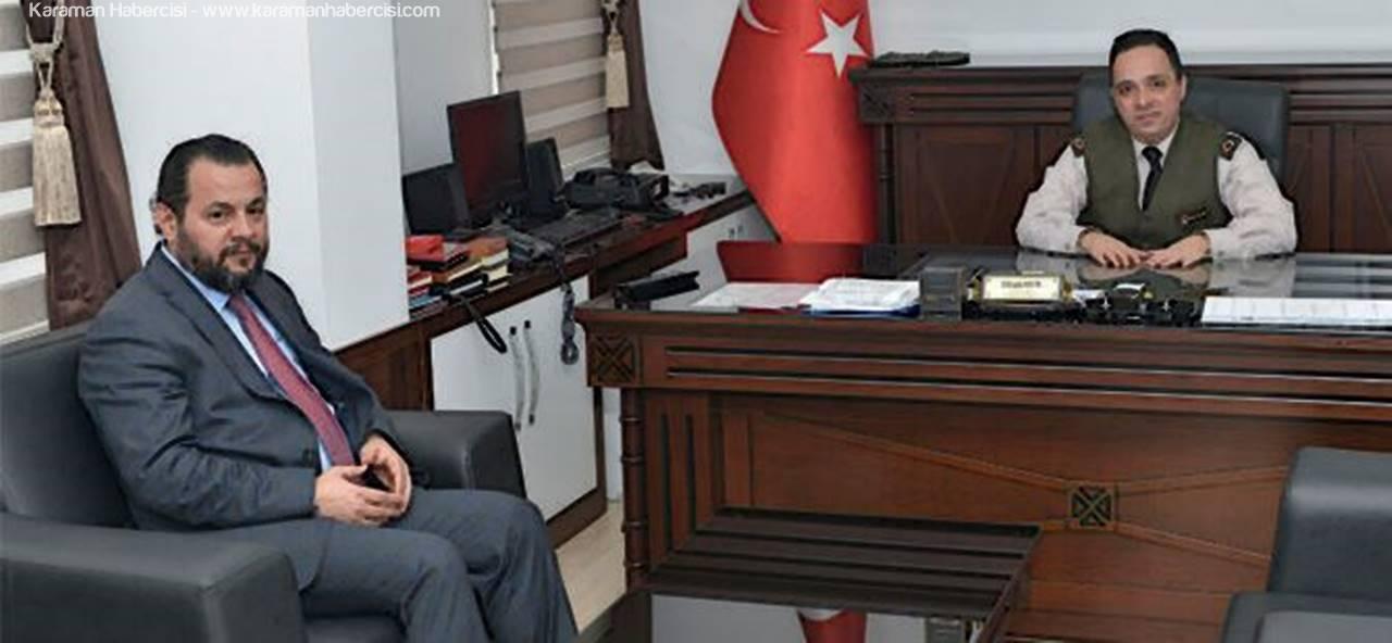 Rektör Akgül'den Garnizon Komutanına İade-i Ziyaret