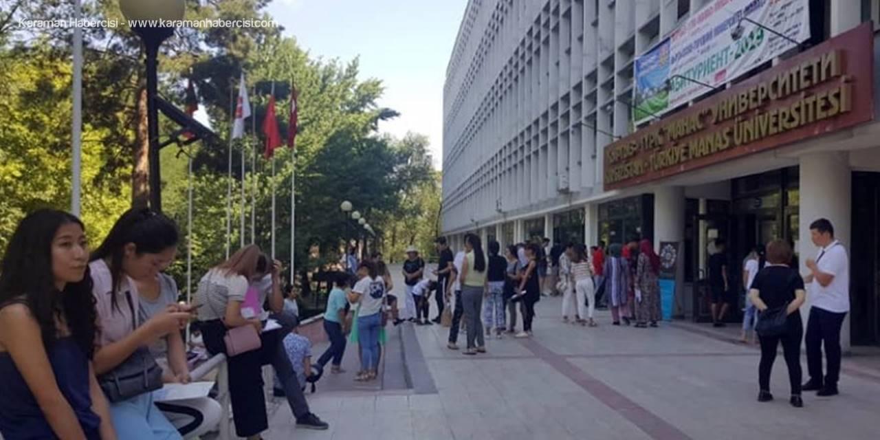 KMÜ, YÖS programının ilk sınavını Kırgızistan'da gerçekleştirdi