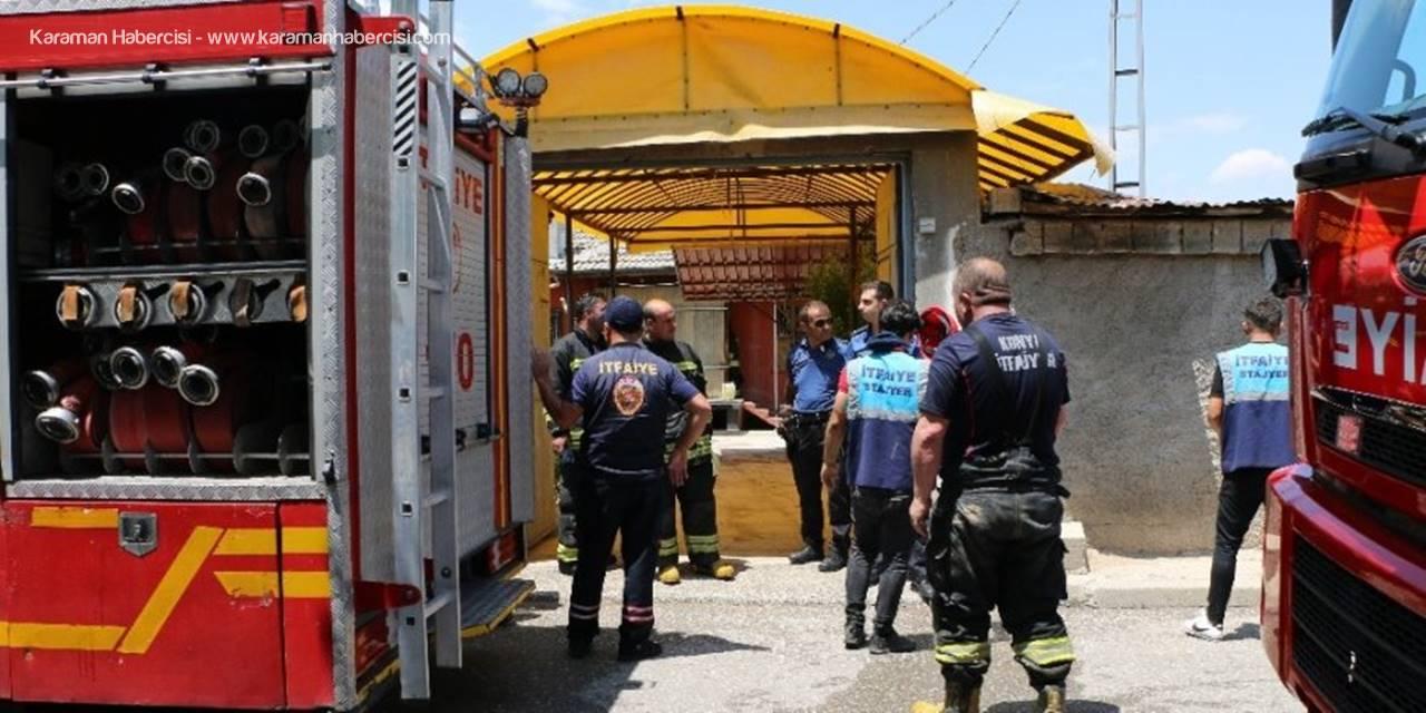 Konya'da Yaşlı Adamın Evinde Yangın Paniği