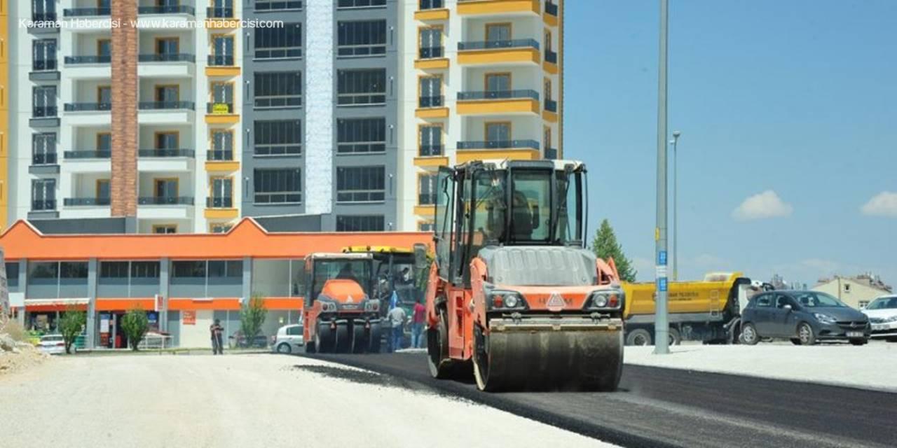 Elmaşehir Mahallesi'nde Asfalt Çalışması