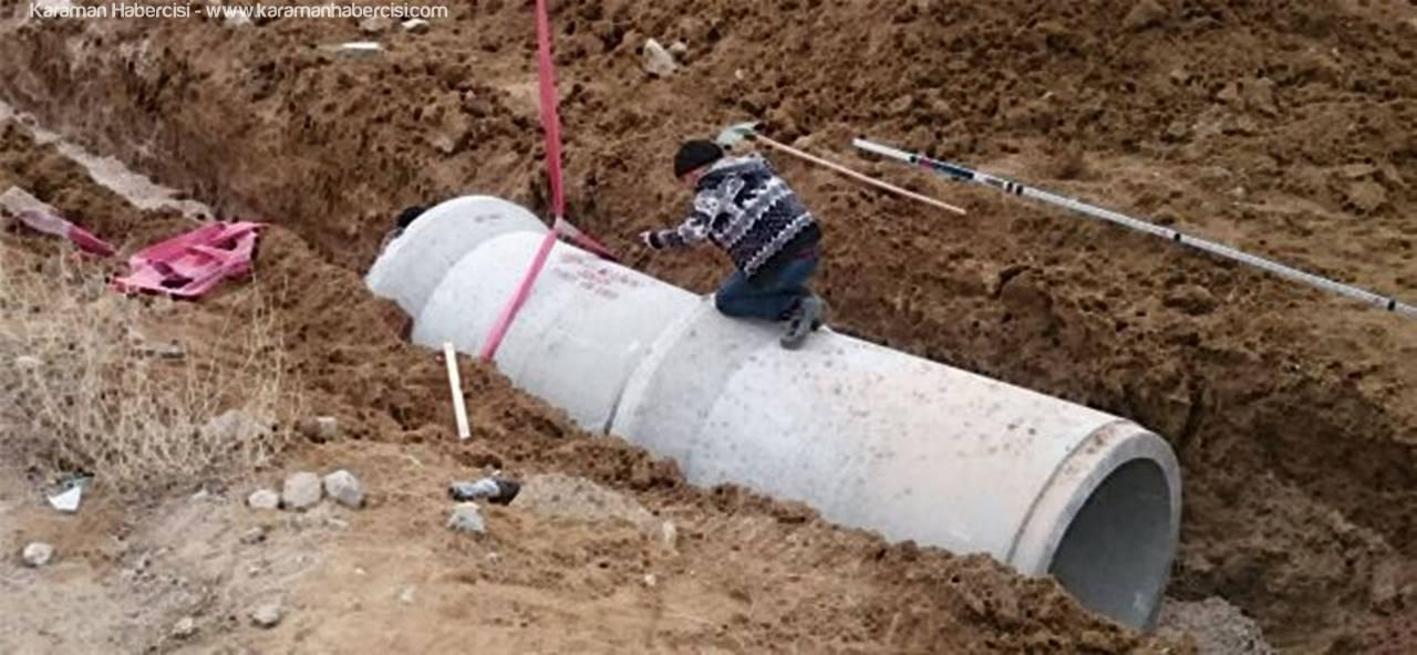 Yağmur Suyu Kollektör Hattı Yapımı Başladı