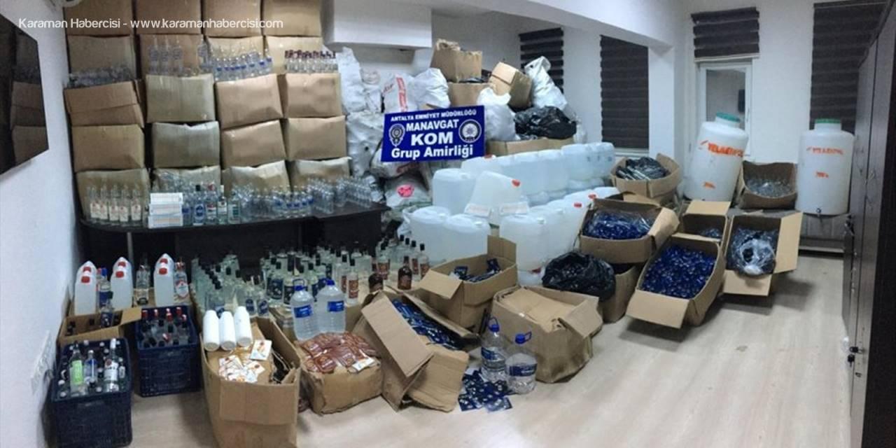 Antalya'da Sahte İçki Ele Geçirildi