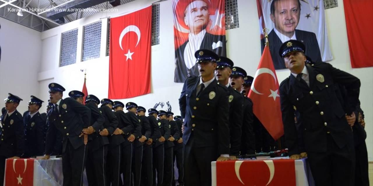 Karaman'da Polis Adaylarının Mezuniyet Heyecanı