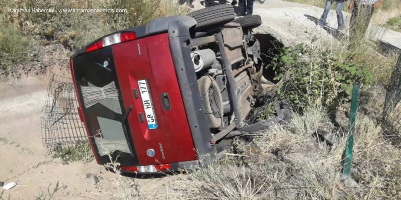 Aksaray'da Araç Boş Sulama Kanalına Düştü: 2 Yaralı