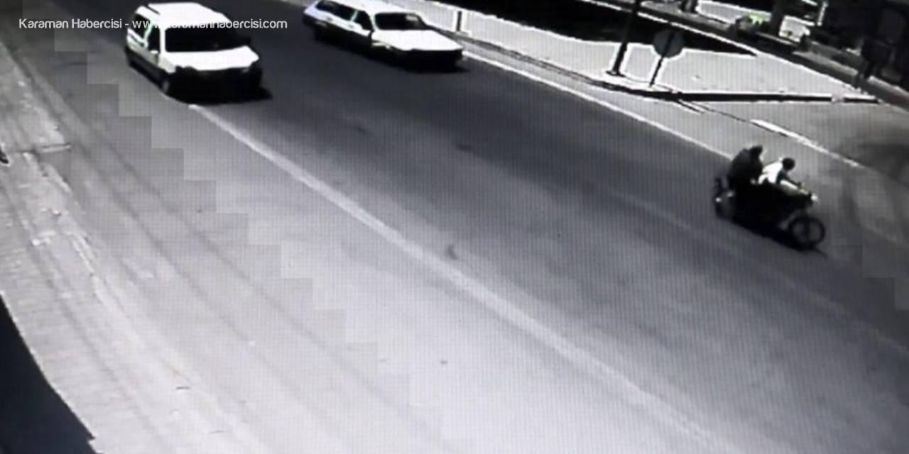 Karaman'da Saniye Saniye Kayda Giren Trafik Kazası