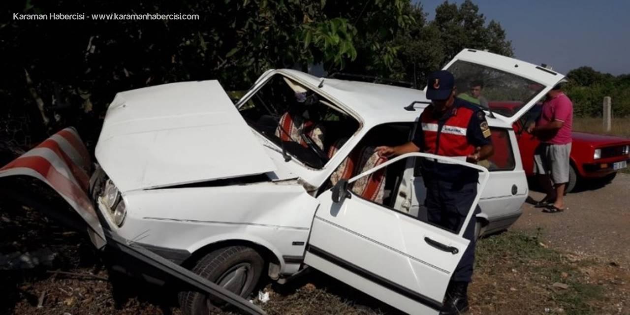 Ayrancı Erdemli Yolunda Trafik Kazası