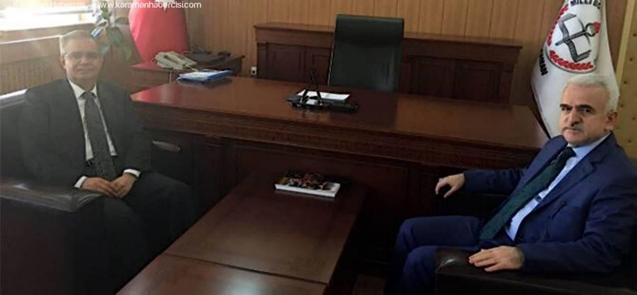 Vali Tapsız'dan Mevlüt Kuntoğlu'na Hayırlı Olsun Ziyareti