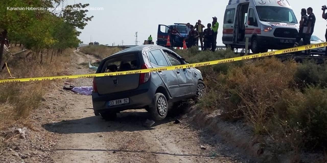 Aksaray'da Otomobil Şarampole Devrildi: 1 Ölü, 2 Yaralı