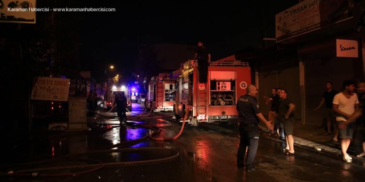 Antalya'da Sanayi Sitesinde Yangın