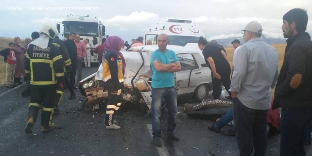 Aksaray'da Taksi İle Otomobil Çarpıştı: 1 Ölü, 1 Yaralı