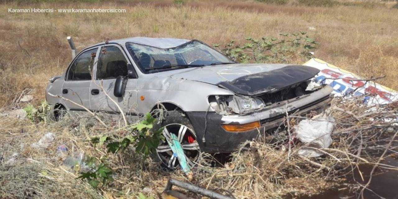 Erdemli Ayrancı Yolunda Trafik Kazası