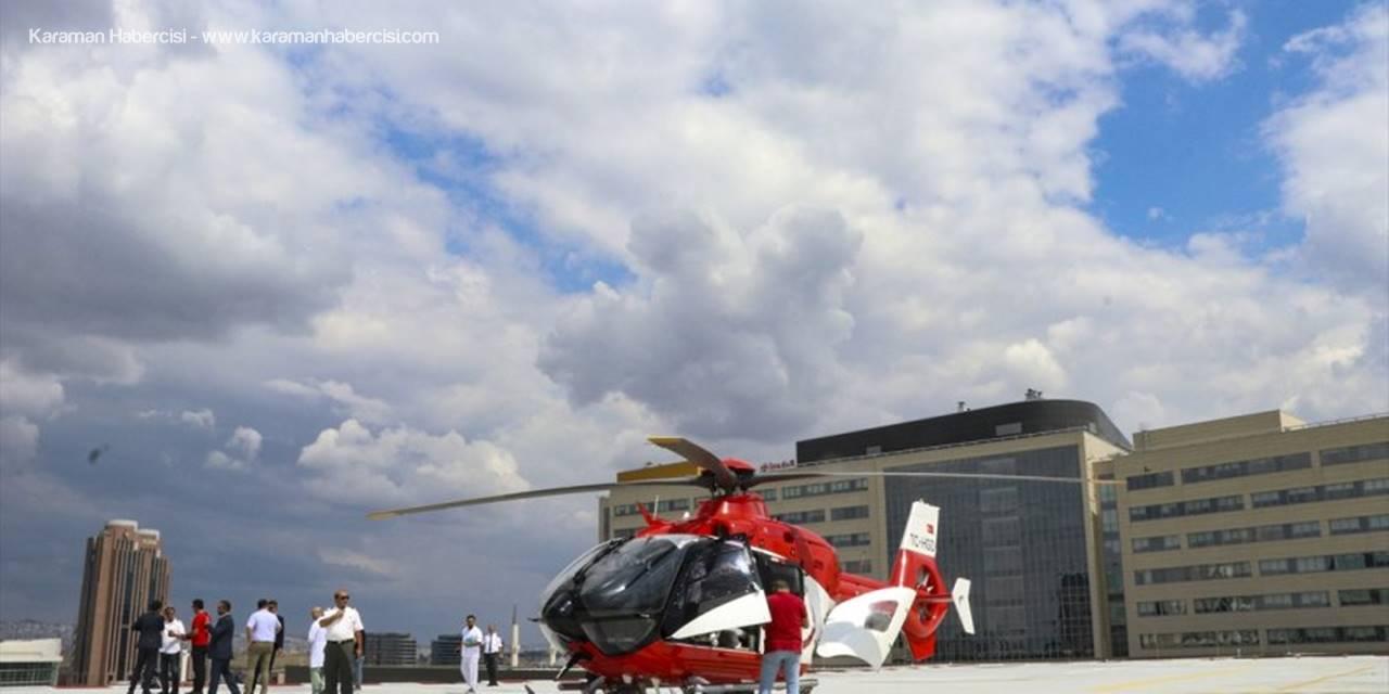 Ankara Şehir Hastanesinde Ambulans Helikopter Deneme Uçuşu Yaptı