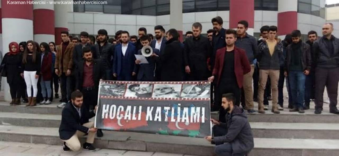 KMÜ'de Ülkücülerden Hocalı Katliamı Açıklaması