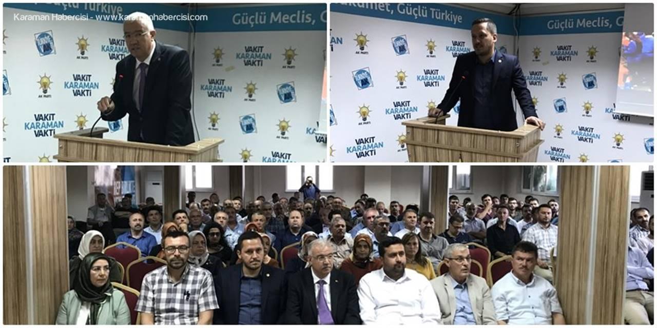 Ak Parti Karaman İl Teşkilatında Cumhur İttifakı Vurgusu