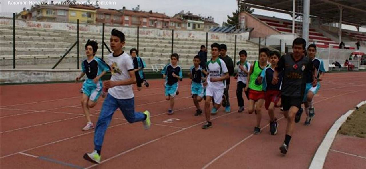 Karaman'da Atletizm Geliştirme Projesi Seçmeleri Yapıldı