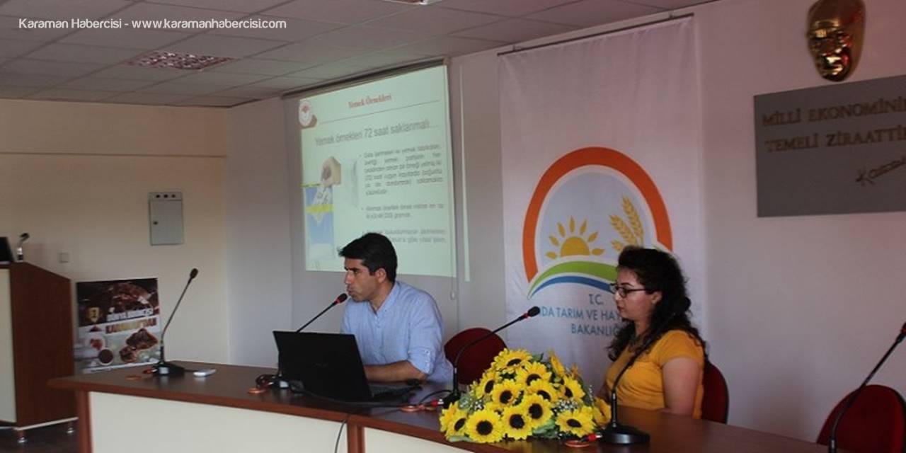 Karaman'da Kantincilere Hijyen Eğitimi