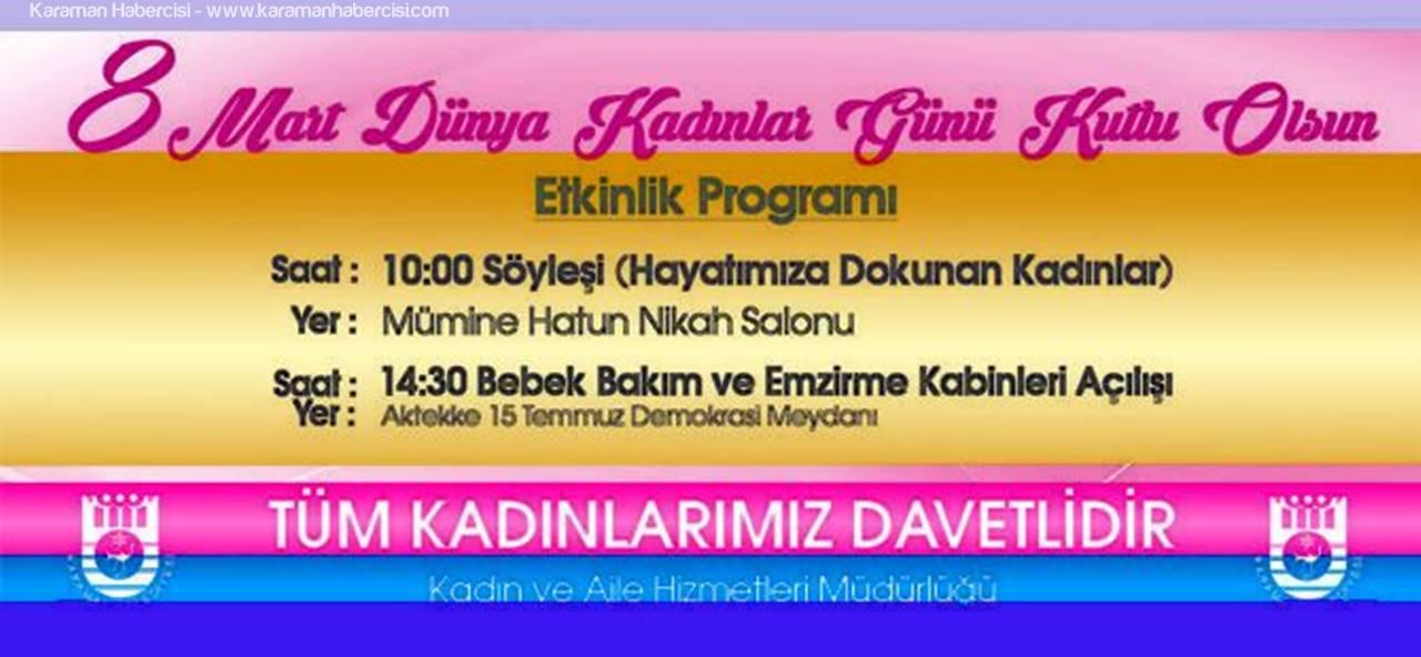 Karaman'da Kadınlar Günü Programı