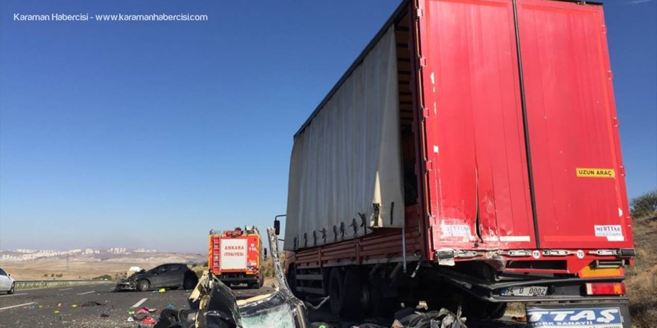 Ankara'da Otomobil Kamyona Çarptı: 3 Ölü, 3 Yaralı