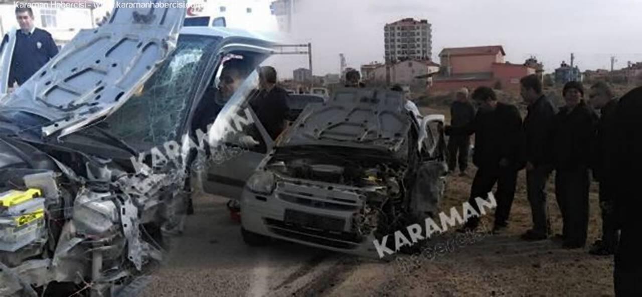 Kılbasan Yolundaki Kazada Sürücü Araç İçine Sıkıştı