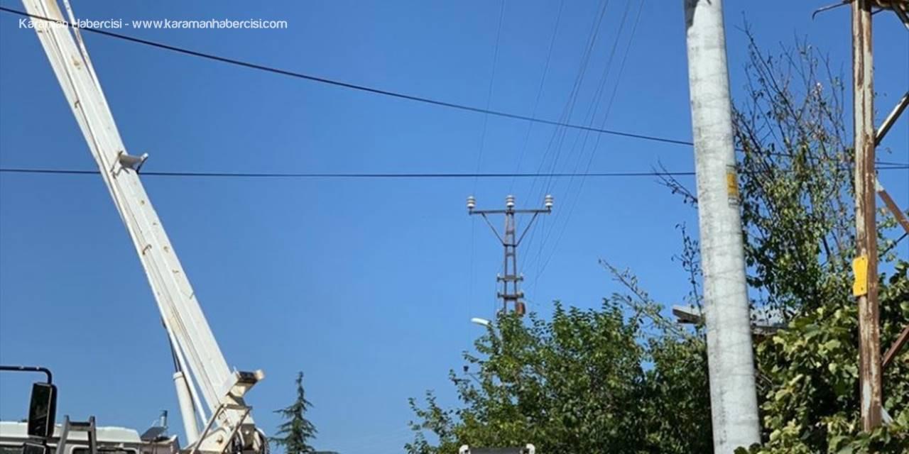 Hüyük'te Elektrik Hatları Yenileniyor