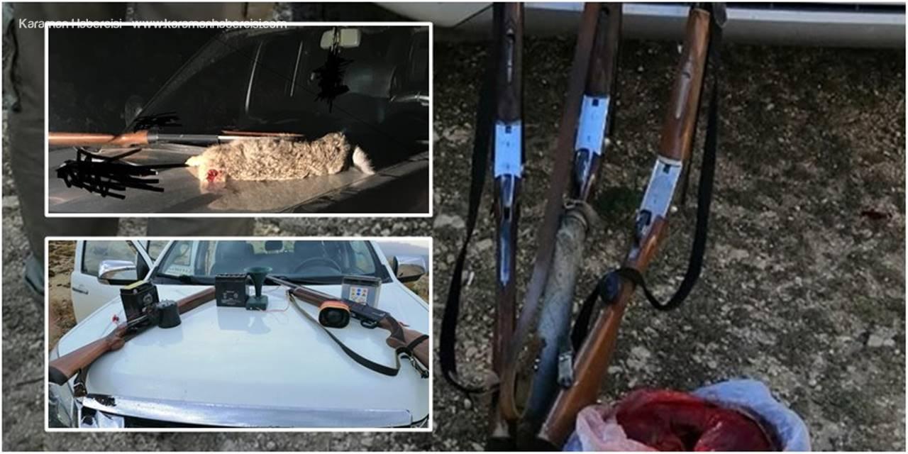 Karaman'da Usulsüz Avlanan AvcılaraPara Cezası