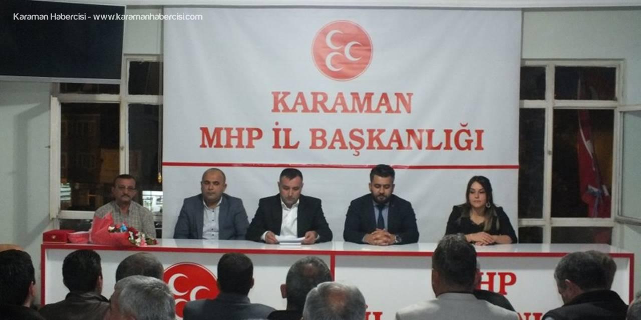 Yenilenen MHP Karaman İl Teşkilatında İlk Toplantı