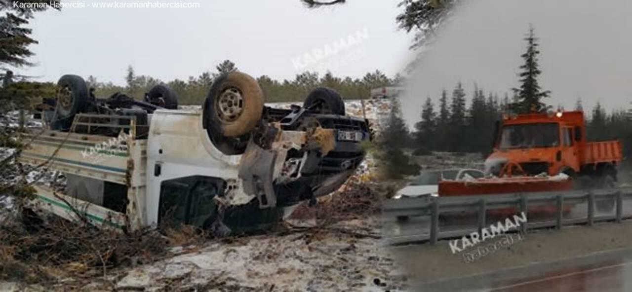 Karaman Mut Yolunda Trafik Kazası