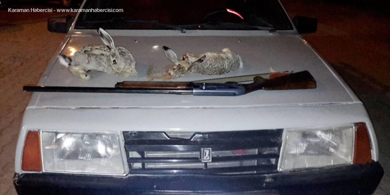 Konya'da Araç Farıyla Tavşan Avına Ceza