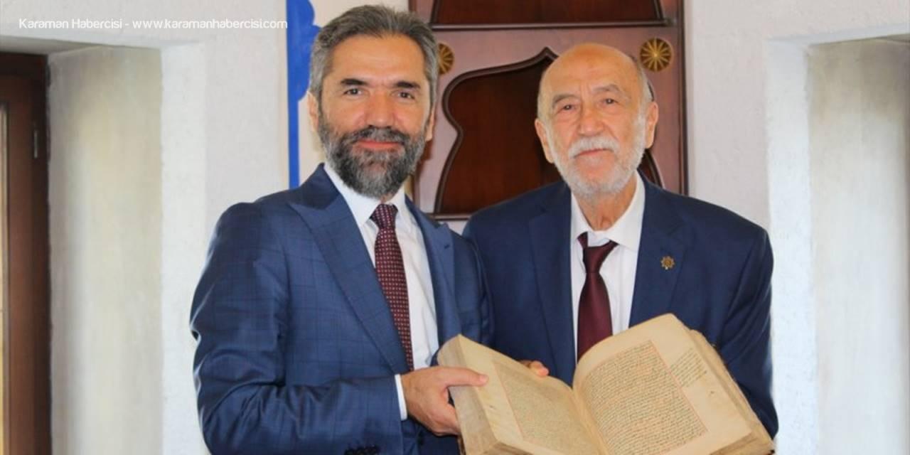 441 Yıllık Yazma Eser İbn Haldun Üniversitesi'ne Emanet