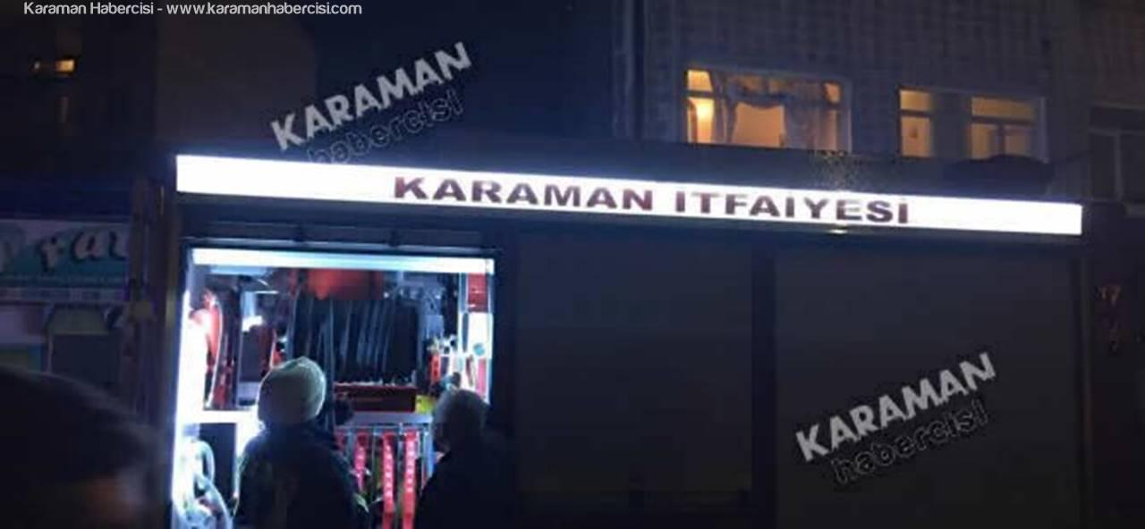 Karaman'da Film Gibi Soba Yangını