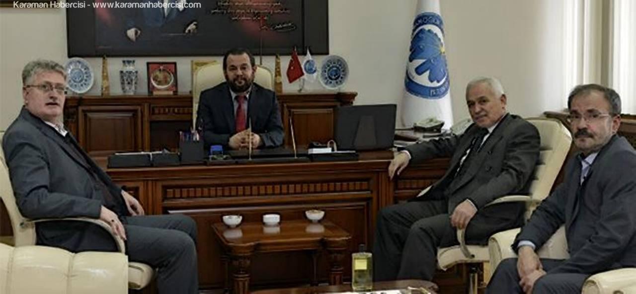 Ebakan Vakfı'ndan Rektör Akgül'e Tebrik Ziyareti