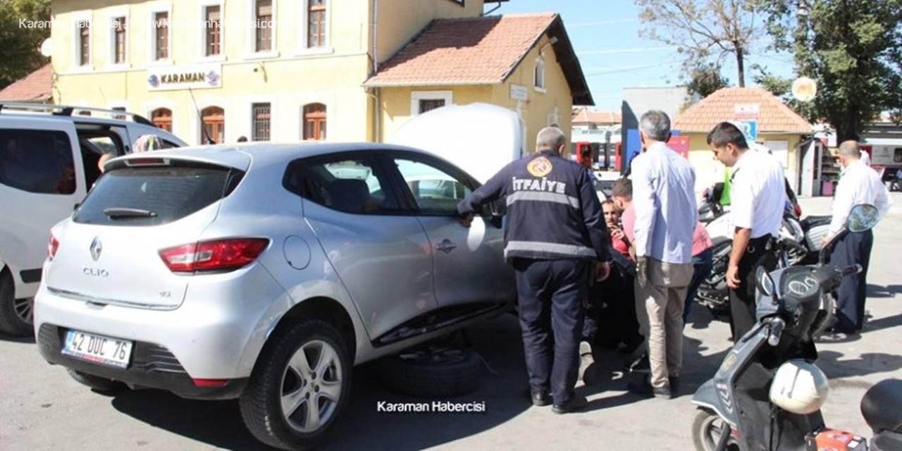 Karaman'da Sıkışan Kediye Kurtarma Operasyonu