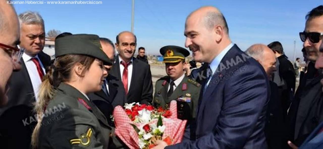 İçişleri Bakanı Süleyman Soylu Karaman'a Geldi