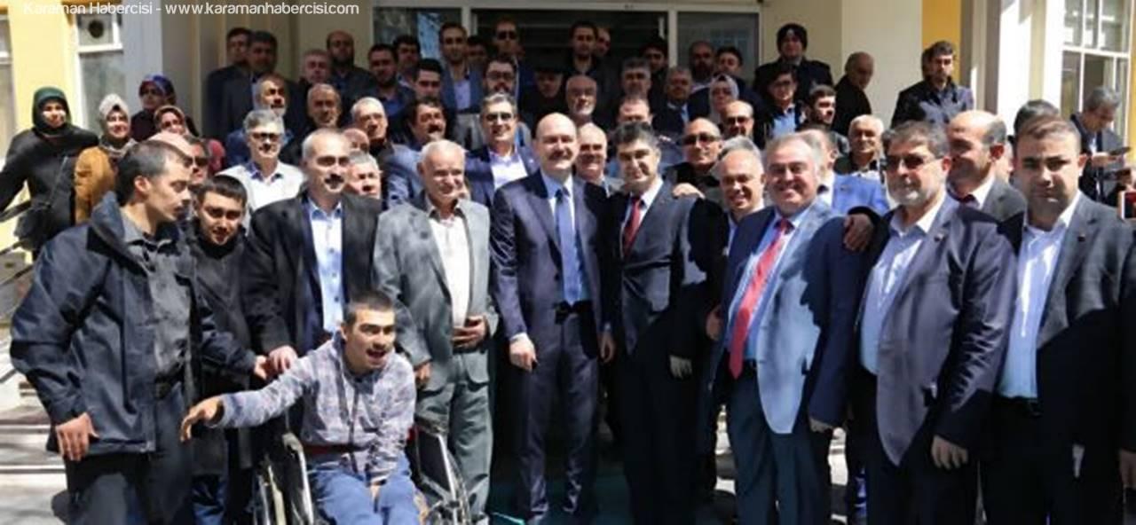 Süleyman Soylu Karaman Belediyesi'ni Ziyaret Etti