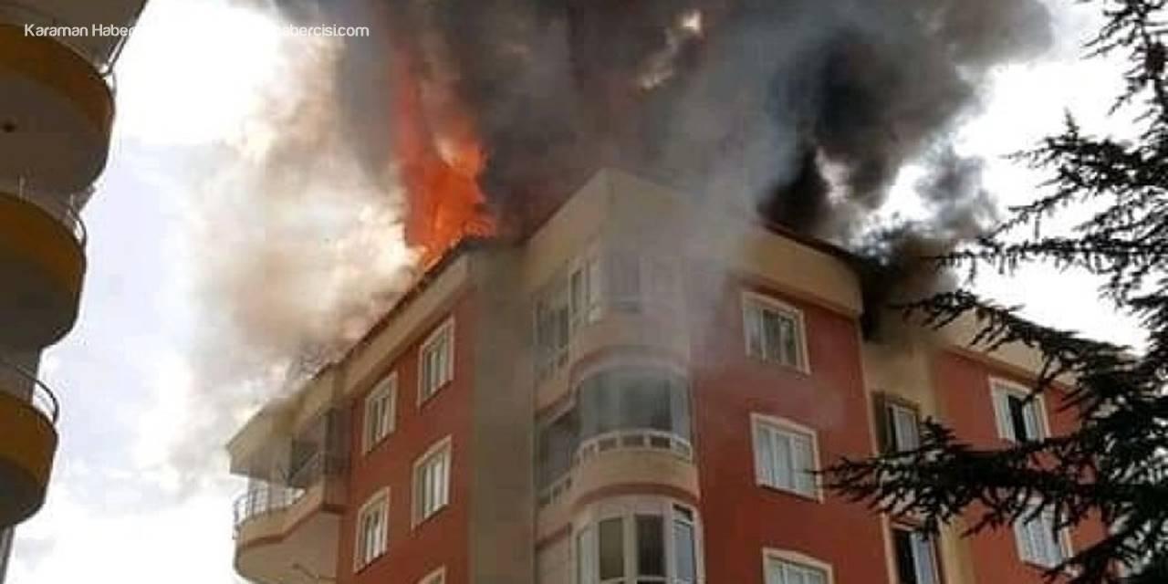 Develi'de Korkutan Yangın