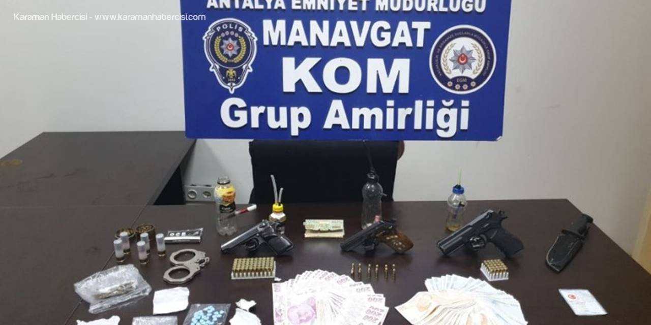 Antalya'da Silah ve Uyuşturucu Operasyonu Yapıldı