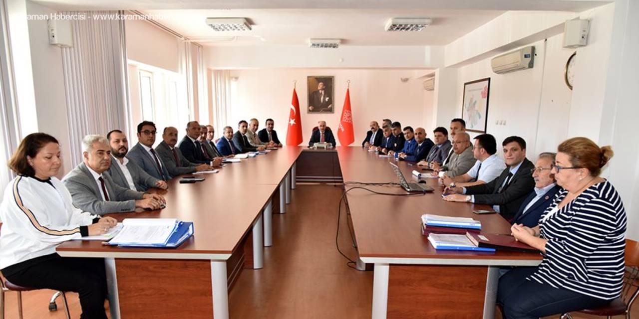 Karaman'da Olası Bir Afet İçin Planlar Gözden Geçirildi