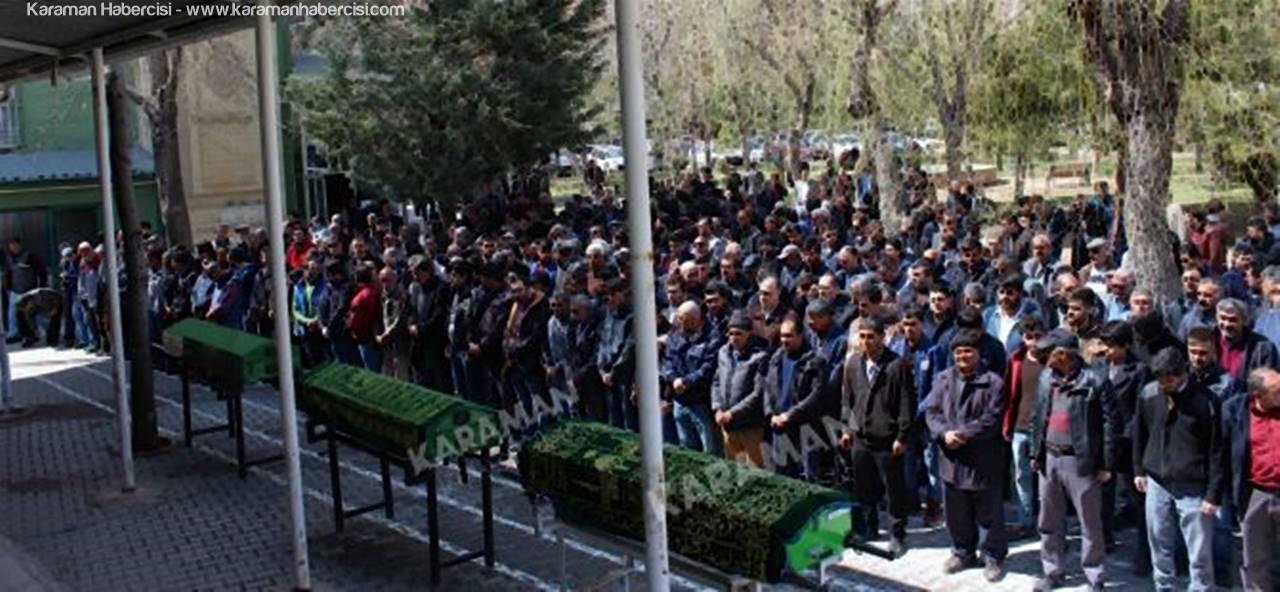 Karaman'da İnşaattan Düşen Hüseyin Avni Gökçe Defnedildi