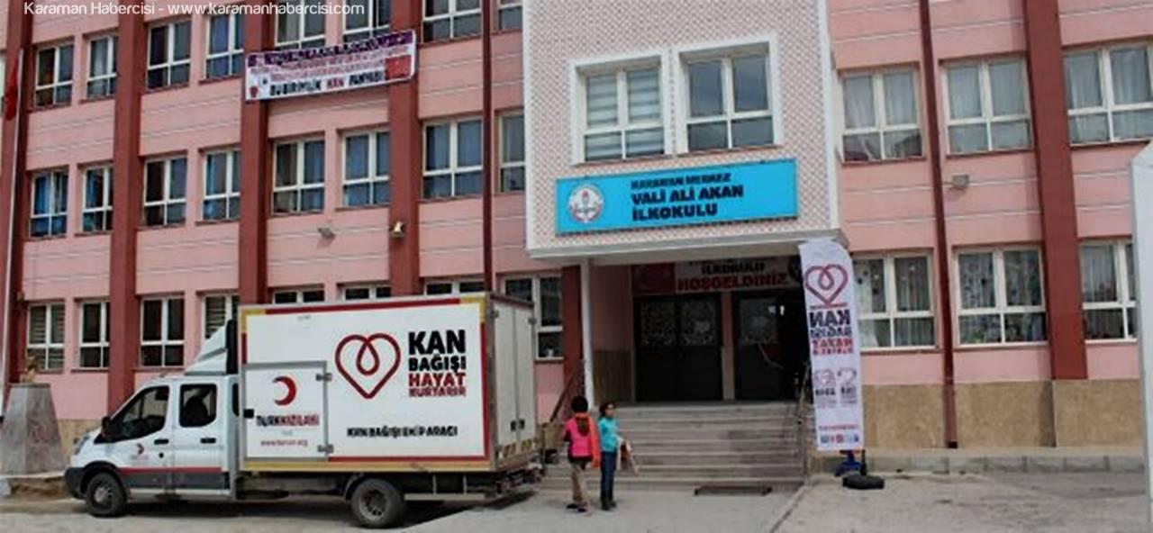 Vali Ali Akan İlkokulundan Kan Bağışı