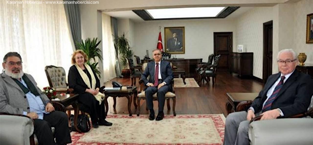 Vali Tapsız'ı Mevlana'nın Yirmi İkinci Kuşaktan Torunu Ziyaret Etti