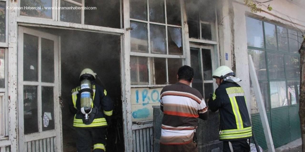 Karaman'da Depo Yangını Büyümeden Önlendi