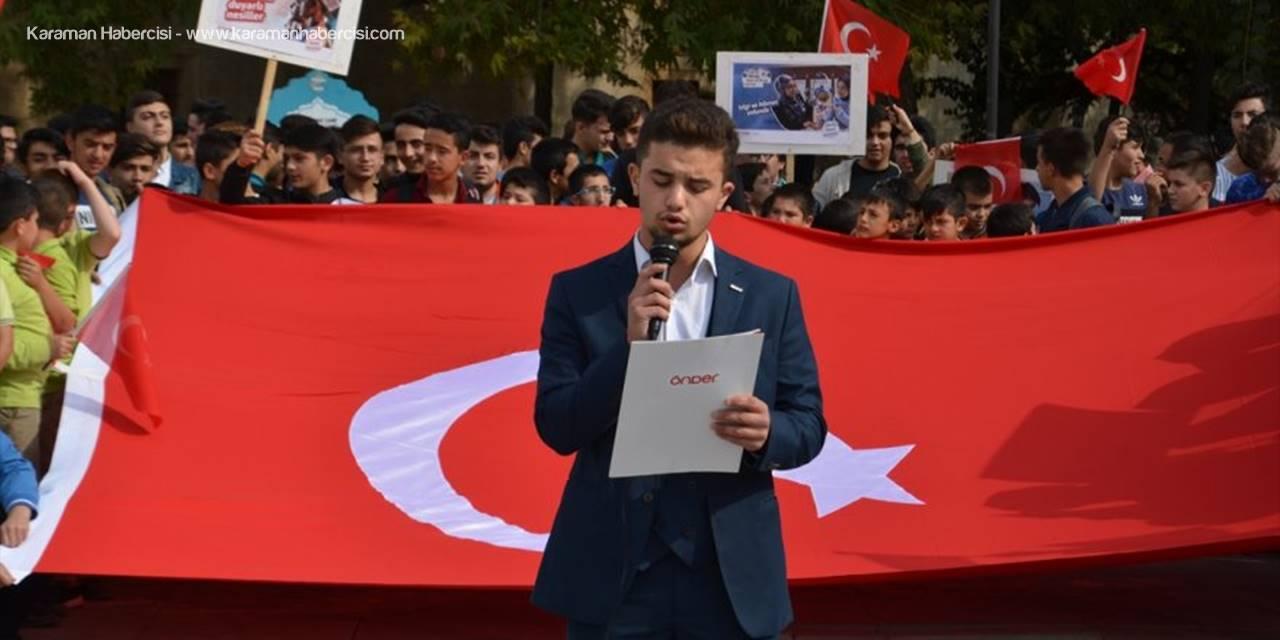 Karaman'da İmam-Hatip Öğrencileri Aktekke Meydanında Buluştu
